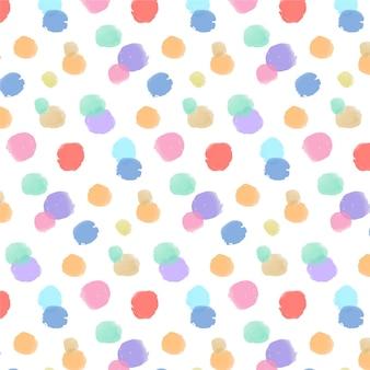 수채화 물감 페인트 점이있는 패턴