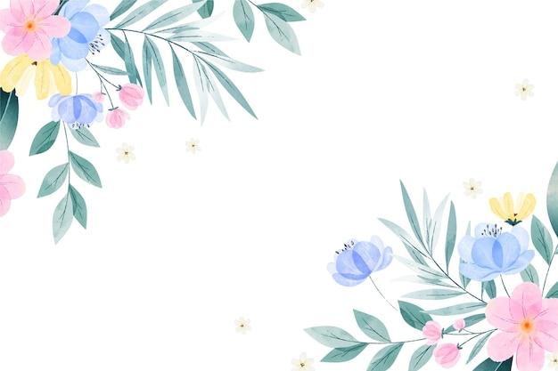 Акварель нарисовал весенний фон