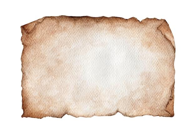 빈티지 오래 된 종이 질감의 수채화 그림
