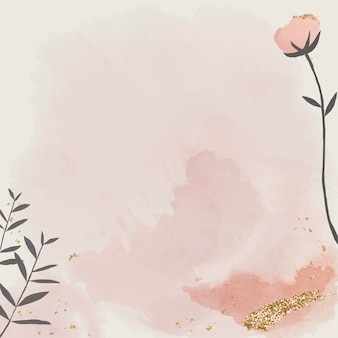 Carta per acquerelli con disegno floreale