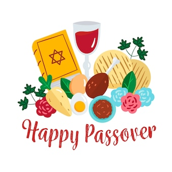 Watercolor passover design