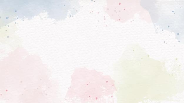 Акварельные пастельные цвета всплеск на бумажном фоне