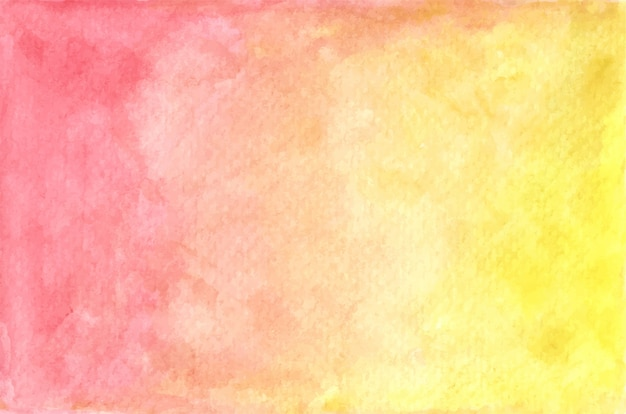 Watercolor pastel red and yellow painted texture. abstract background.
