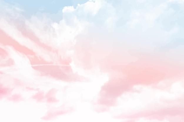 水彩パステル空の背景