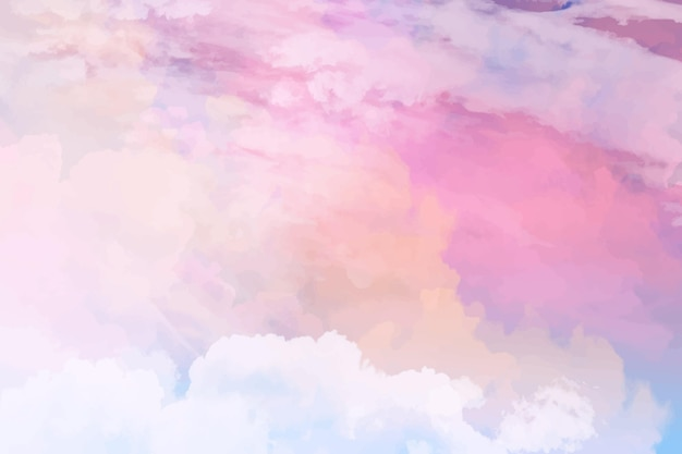 Watercolor pastel sky background