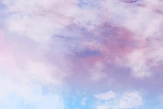 Priorità bassa del cielo pastello dell'acquerello