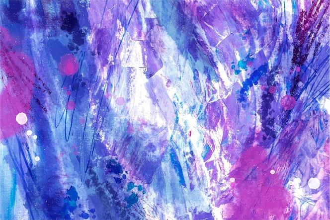 抽象的なストロークと水彩パターン