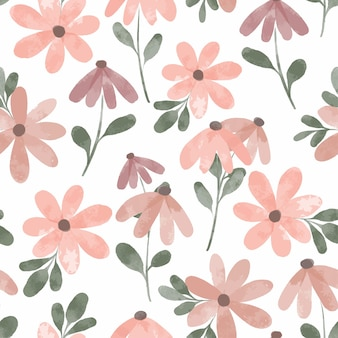 水彩花びらの花はシームレスなパターンを繰り返します