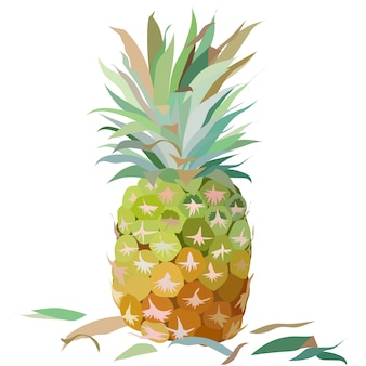 Watercolor pineapple background