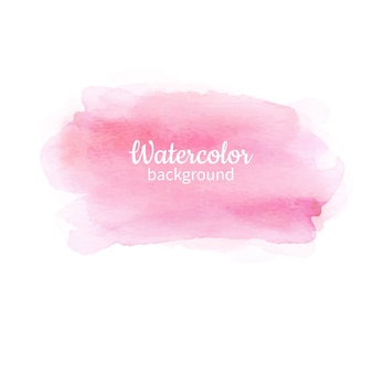 Watercolor pink abstract hand painted background