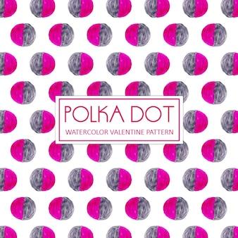 水彩ピンクとグレーのポーランドドットの背景