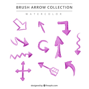 Watercolor pink arrows pack