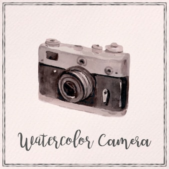 水彩ポラロイドカメラの背景