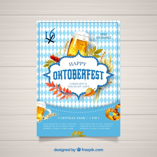 Watercolor poster for oktoberfest