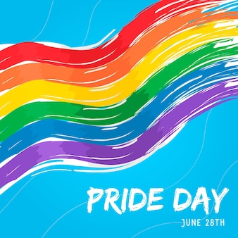 Watercolor pride day flag background