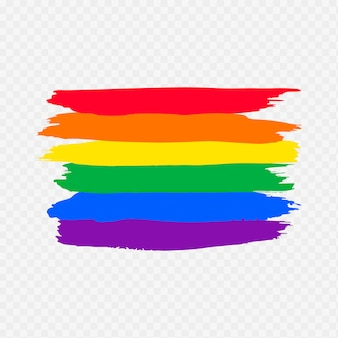 Watercolor pride day flag
