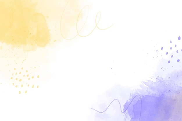 Watercolor purple and yellow shapes background