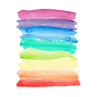 Watercolor rainbow background.