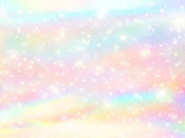 Watercolor rainbow bokeh background