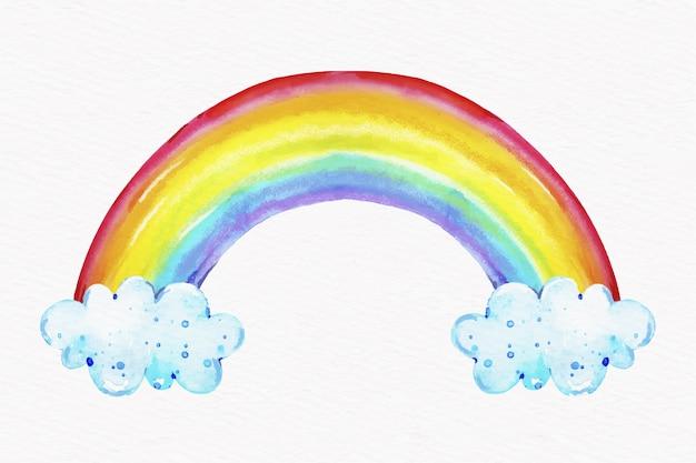 Watercolor rainbow concept