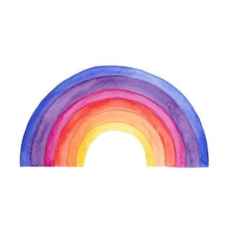 Акварельный дизайн радуги