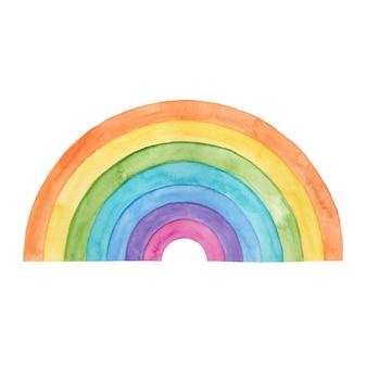 Watercolor rainbow design