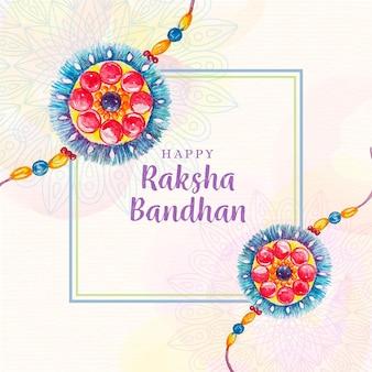 Watercolor raksha bandhan concept