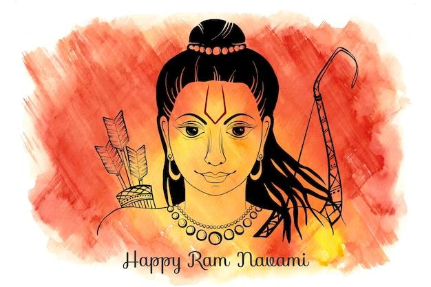Illustrazione dell'acquerello di ram navami