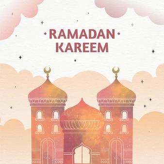 Акварель рамадан карим иллюстрация