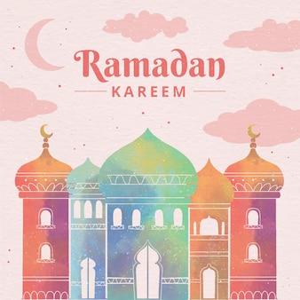 Illustrazione dell'acquerello del ramadan kareem