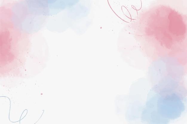 水彩の赤と青の形の背景