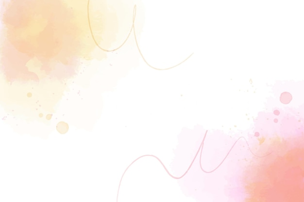 Watercolor red and orange shapes background Free Vector