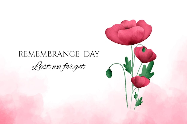 Watercolor remembrance day background