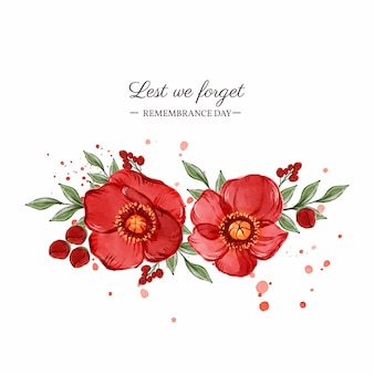 Watercolor remembrance day illustration