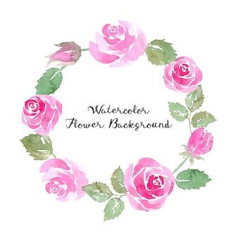 수채화 장미 꽃 배경