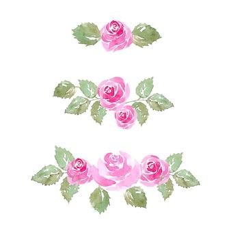 수채화 장미 꽃 장식품