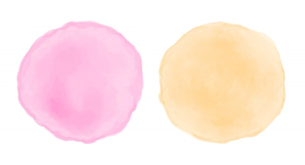 Watercolor round stains