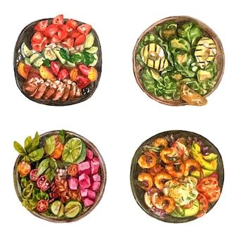 Watercolor salad