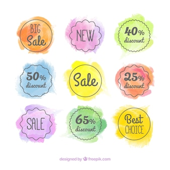 Watercolor sale badge collection