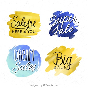 Watercolor sale label collection