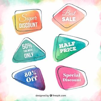 Watercolor sale sticker