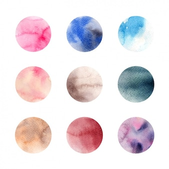 Watercolor samples collection