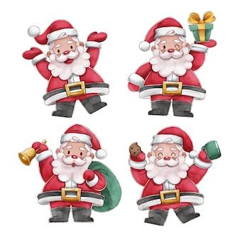 수채화 산타 클로스 캐릭터 컬렉션