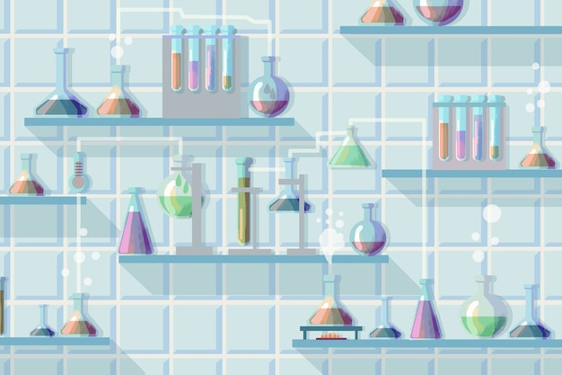 Concetto di laboratorio di scienza dell'acquerello
