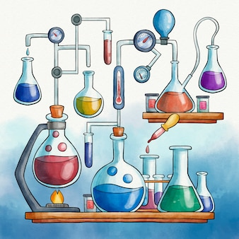 Watercolor science lab