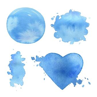 Акварельные морские синие пятна