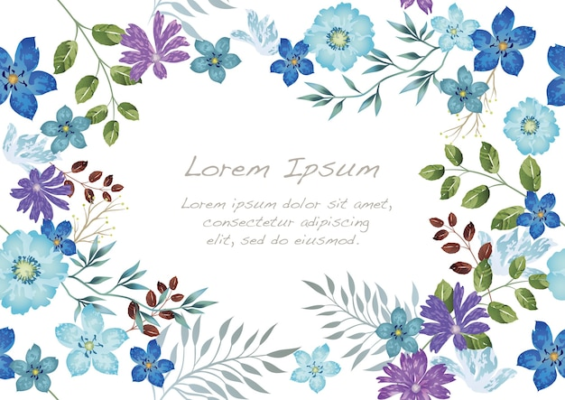 Watercolor seamless floral isolated on a white
