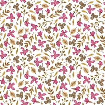 로맨틱 스타일에 꽃으로 수채화 원활한 패턴입니다.