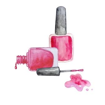 Watercolor set of nail polishes