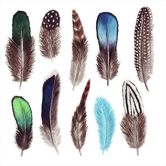 Акварельный набор перьев.